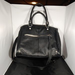Steve Madden black tote shoulder bag purse studs